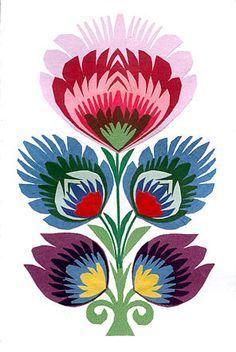 Traditional Polish folk print