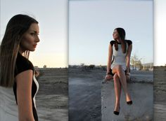Zara Black And White Dress styled by Miss Black Book