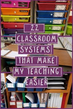 22 classroom systems that make my teaching easier