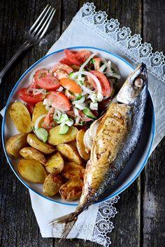 Рецепт скумбрии с картошкой в фольге в духовке