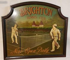 Tennis gift Tennis wall decor Tennis sign Tennis signboard Sport gift Brighton Tennis Club Pub decor Bar Decor Sports room Tennis racket Tennis Clubs, Tennis Racket, Pub Decor, Wall Decor, Wimbledon Tennis Club, Tennis Gifts, Pub Bar, Sports Gifts, Vintage Home Decor