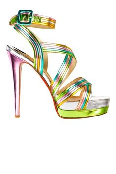 Rainbow Metallic Shoes by Gravity Graph