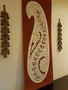 New fabric wall art ideas ribbons Ideas Clay Wall Art, Clay Art, Diy Room Decor Videos, Art Deco Wedding Theme, Fabric Wall Art, Madhubani Art, Indian Folk Art, India Art, Diy Art Projects