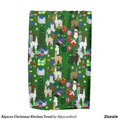 Alpacas Christmas Kitchen Towel