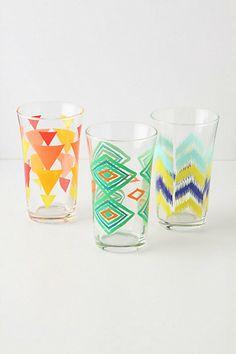 Treading Water glasses, Anthropologie