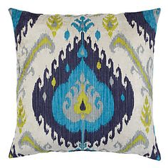 Inspired by traditional ikat patterns, blends of colors decoratively intermingle creating a stunning display of contrast and texture.