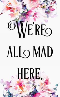 Alice in Wonderland My favourite quote from the movie
