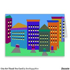 City Art Thank You Card