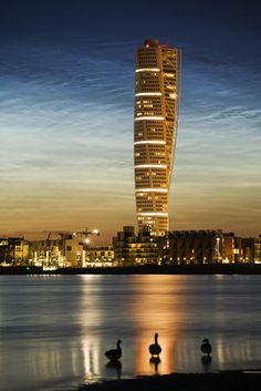Turning Torso apartment building in West Harbour - Sweden