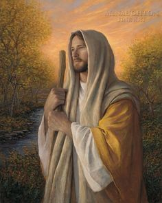 """""""Loving Savior""""  Artist: Jon McNaughton  --    """"I believe there is nothing more challenging for an artist than to paint the Savior of the world. There is such diverse opinion as to how He should be painted that such an attempt is sure to bring about a varied response from viewers. I chose to represent the Savior as best I could by emphasizing the feeling of great love He has for each of us. This is my Loving Savior."""" --  www.mcnaughtonart.com"""
