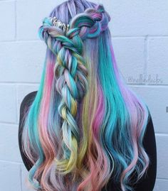 "514 Likes, 21 Comments - Kaleidochics  Hair Artists (@kaleidochics) on Instagram: ""Ahhh this beautiful unicorn hair by @nellieduclos is giving us all the feels!!! """