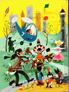 Shining Hours, 1961 elementary school reading textbook  Back cover