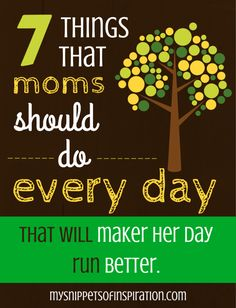 Did you know that these things moms should do every week will change lives?