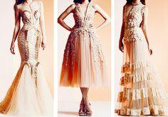 Cream dresses
