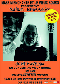 Joel Favreau en concert ve 24 avril 2015 Salle du Vieux Bourg à Mase www.masemenchante.ch