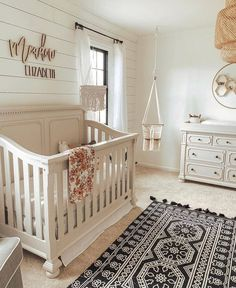 50 Inspiring Nursery Ideas for Your Baby Girl – Cute Designs You'll Love Charming Baby Girl Room Ideas – Browse the nursery themes, shades and also decorating ideas and see what ideas you'll locate to incorporate right into your new little girl's space. Baby Nursery Decor, Baby Bedroom, Baby Boy Rooms, Baby Boy Nurseries, Baby Cribs, Baby Decor, Baby Room Ideas For Girls, Baby Girl Nusery, Rustic Nursery
