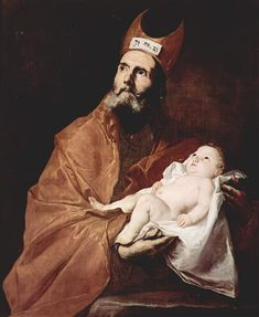 Saint Simeon with the Christ Child - Jusepe de Ribera.  1647.  Oil on canvas.  113 x 93 cm.  Private collection.