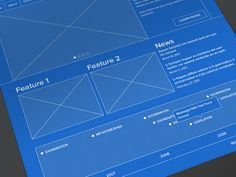 Social network ui ux blueprint wireframe best web design wireframe malvernweather Choice Image