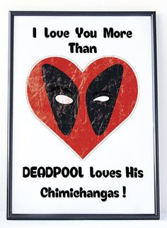 Deadpool Love, Funny Valentine Gift, Superhero Words. SAVE 30% - Add 3 or more prints to your cart and enter SAVE30 at checkout. ❥WHAT IS