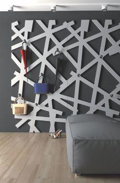 cuier decorativ mdf vopsit alb hol casa - Traforate.ro