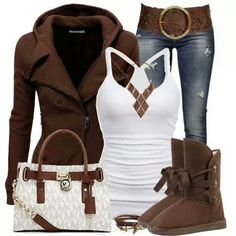 Love this earth toned outfit