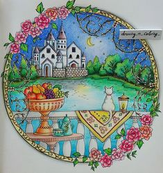 Romantic Country Coloring Book --> For the most popular adult coloring books and writing utensils including colored pencils, drawing markers, gel pens and watercolors, visit our website at http://ColoringToolkit.com. Color... Relax... Chill.
