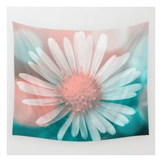 Flower Wall Tapestry ($39) ❤ liked on Polyvore featuring home, home decor, wall art, wall tapestries, photo wall art, flower wall art, interior wall decor, blossom wall art and mounted wall art