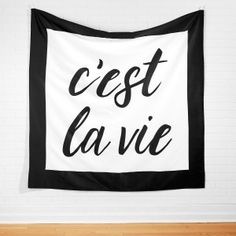C'est La Vie Tapestry - Tapestries - Wall - Decor