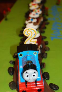 Or end on a sweeter note with a cupcake train. Propelled by Love has a fun and friendly tutorial that will have your kiddo filled with glee as this train comes chugging by. Made from Graham crackers, mini oreos and funsticks, this train will sure be the talk of the party (second to the birthday kid, of course)!