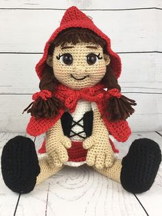 Ravelry: Little Red Riding Hood pattern by Holly's Hobbies