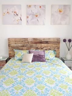 recycled pallet wood headboard or bed - custom reclaimed king queen full twin cali set Reclaimed Wood Headboard, Custom Headboard, Headboard Designs, King Headboard, Rustic Headboards, Headboard Ideas, Bedroom Ideas, Recycled Pallets, Wooden Pallets