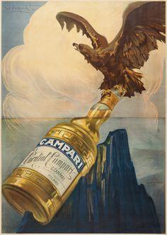 Plinio Codognato Cordial Campari, 1920 c. Vintage Labels, Vintage Ads, Vintage Posters, Vintage Designs, Vintage Photos, Poster Ads, Advertising Poster, Retro Ads, Vintage Advertisements