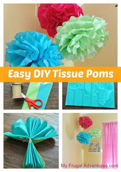 So for my little girl's Mermaid birthday party I mentioned I had made these fun little tissue paper Poms. I thought I would post the instructions for how to make them because they are fun and…