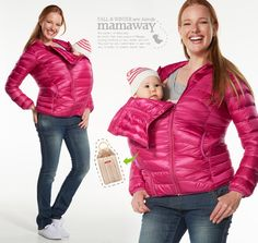 I WANT THIS!! Mamaway - Maternity Clothing, Breastfeeding Tops, Baby Sling, Nursing Bra, Recovery Shaper, Nursing - - 3-in-1 Down-filled Maternity and Babywearing Jacket
