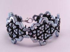 Steampunk Hex Nut Hardware 7 Inch Bracelet by luv4sams on Etsy, $22.00: