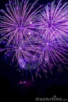 purple fireworks pinned with Bazaart