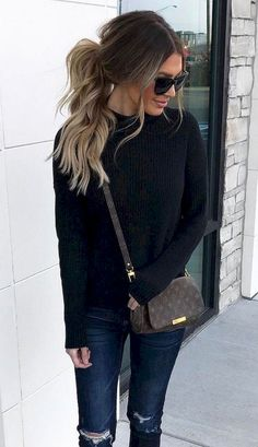 88 Trending Fall Women's Black Jeans Outfits To Copy Right Now https://www.tukuoke.com/88-trending-fall-womens-black-jeans-outfits-to-copy-right-now-235