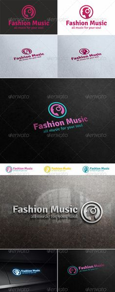 Fashion Music  Activities & Leisure Logo — Vector EPS #unique #environment • Available here → https://graphicriver.net/item/fashion-music-activities-leisure-logo/5293116?ref=pxcr