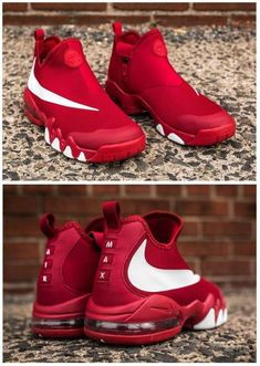 Nike Big Swoosh Charles Barkley: University Red - - Funny Tutorial and Ideas Me Too Shoes, Men's Shoes, Nike Shoes, Shoe Boots, Shoes Sneakers, Chunky Sneakers, Women's Sneakers, Black Sneakers, Casual Sneakers