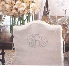 elegant chairs with wonderful monograms!  Great detail!!!!!