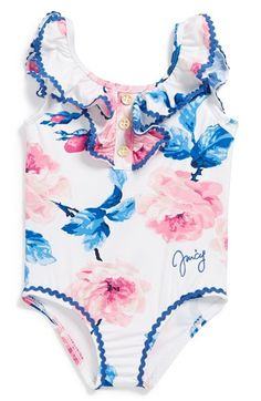 Juicy+Couture+'Rose'+One-Piece+Swimsuit+(Baby+Girls)+available+at+#Nordstrom