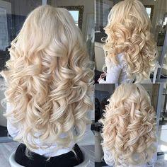 Curls. Formal Hairstyles, Pretty Hairstyles, Permed Hairstyles, Feathered Hairstyles, Wedding Hairstyles, Pinterest Hair, Hair Trends, Long Curly Hair, Curly Hair Styles