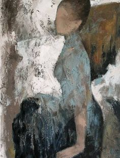 "Saatchi Art Artist Naoko Paluszak; Painting, ""Blue Skirt (SOLD)"" #art"