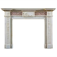 Antique English Neoclassical Fireplace Mantel | From a unique collection of antique and modern fireplaces and mantels at http://www.1stdibs.com/furniture/building-garden/fireplaces-mantels/