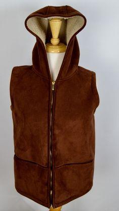 Lauren Ralph Lauren Women's Size Small Brown Faux Suede Vest #LaurenRalphLauren