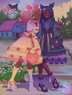 Black Love Art, Black Girl Art, Art Girl, Pretty Art, Cute Art, Arte Black, Art Et Design, Black Girl Cartoon, Black Art Pictures
