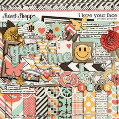 digital scrapbooking - I Love Your Face by Libby Pritchett