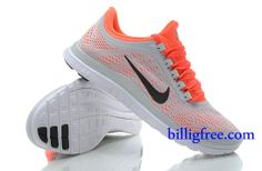 Billig Schuhe Damen Nike Free 3.0 V5 (Farbe:Vamp-grau,innen-orange;logo-schwarz;Sohle-weiB) Online Laden.