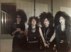 Black dress and clothes, vampire attire, black makeup and metal accessories became popular in the Goth movement, which began in the 1980s.