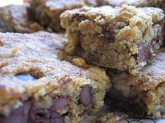 Moist & Chewy Low Fat Oatmeal Chocolate Chip Cookie Bars, moist, sweet and delicious, easy homemade snack, 162 calories, 4 Weight Watchers Points Plus